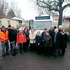 Ortsverein und Bürgerverein informieren sich über den Bürgerbus in Arzberg