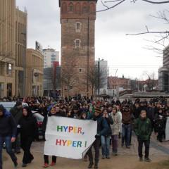 Wir Jusos bei der Demonstration gegen die JN in Chemnitz.