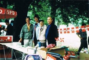 v.l.n.r.: Dr. Christoph Gericke, Olaf Drewning, Rudolph Gotthardt, Günter Albert