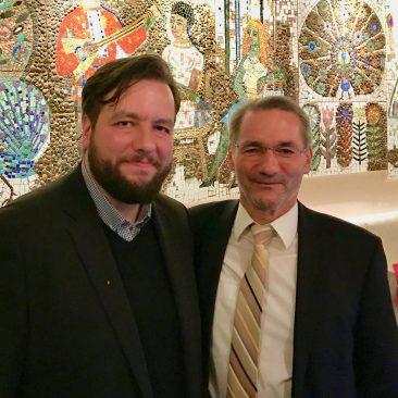Matthias Platzeck und Sören Gruner Anfang 2017 in Chemnitz