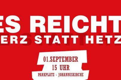 Herz statt Hetze +++ 1. September +++ Chemnitz
