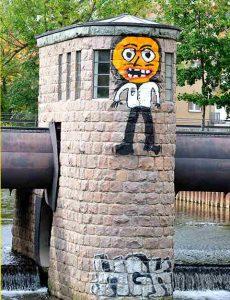 Graffiti Walzenwehr