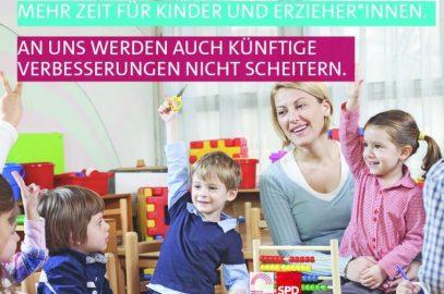 Betreuung unserer Kinder darf nicht zu Lasten der ErzieherInnen gehen